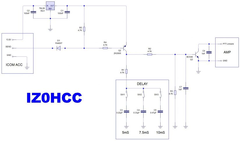 Amplifier Interface With Delay IZ0HCC
