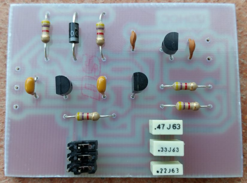 Amplifier Interface With Delay Montaggio Componenti IZ0HCC