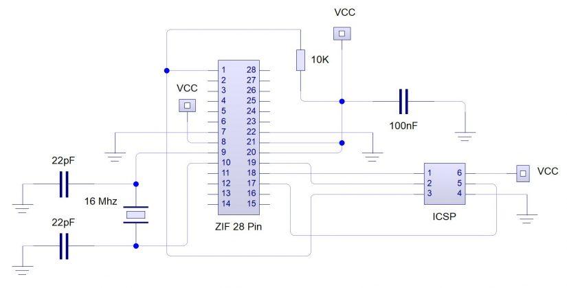 ICSP Circuit IZ0HCC