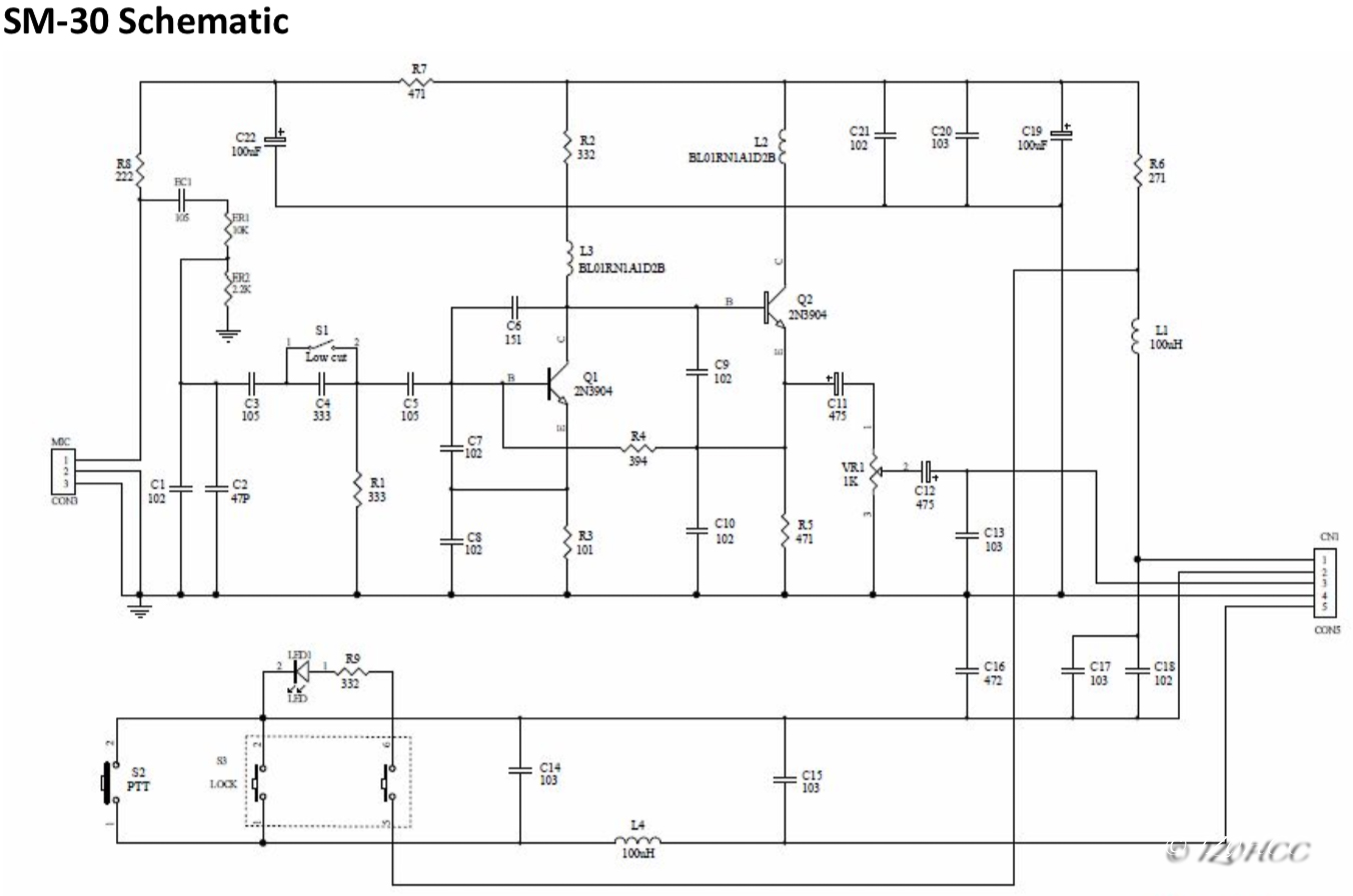 Icom SM-30 Schematic IZ0HCC