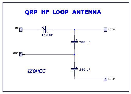 QRP HF Loop Antenna Schematic IZ0HCC