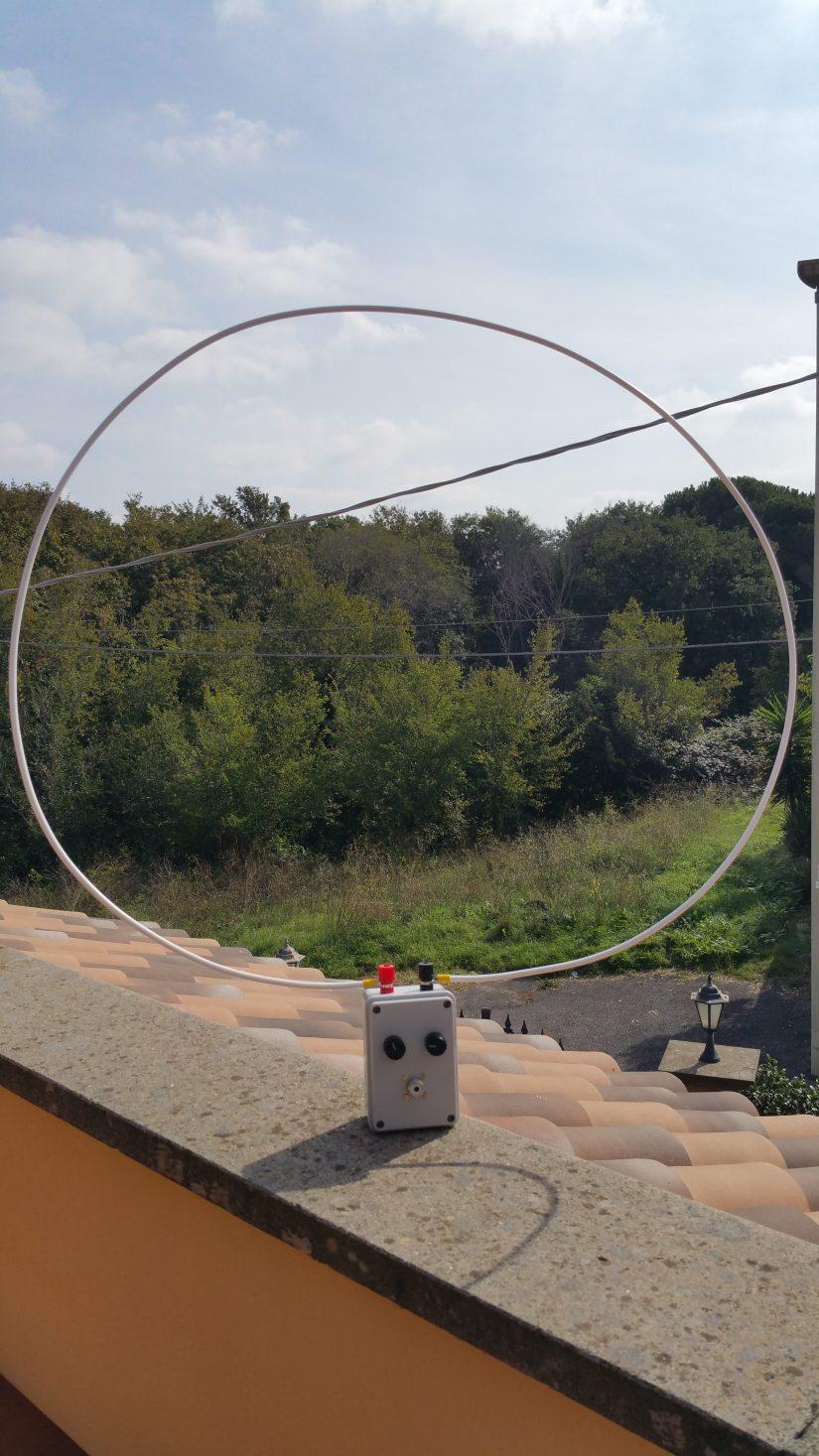 QRP HF Loop Antenna IZ0HCC