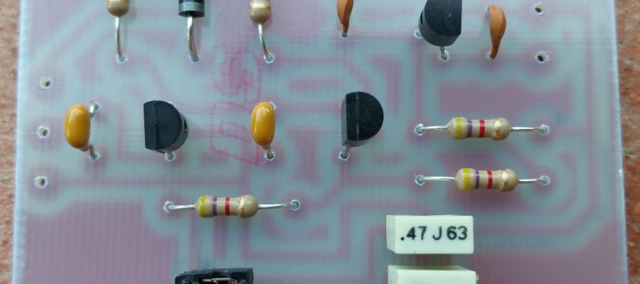 Amplifier Interface With Delay Montaggio Componenti IZ0HCC